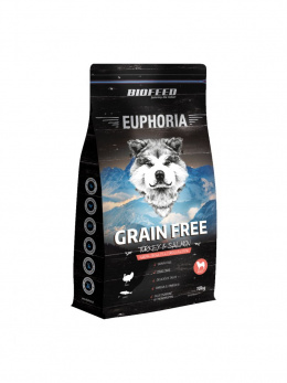 BioFeed EUPHORIA ADULT Dog Grain Free Turkey & Salmon 10kg + GRATIS 2 x Alpha Spirit Nr 3