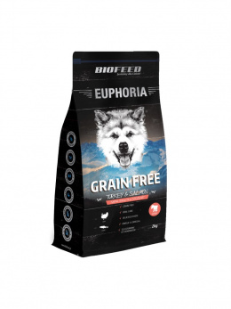 BioFeed EUPHORIA Junior Dog Grain Free Turkey & Salmon 2kg Karma dla szczeniąt