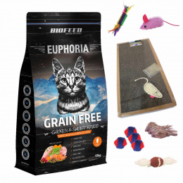 BioFeed EUPHORIA ADULT CAT GRAIN FREE CHICKEN & POTATO 10KG kurczak i bataty + GRATISY
