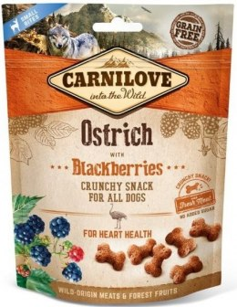 CARNILOVE CRUNCHY SNACK OSTRICH WITH BLACKBERRIES WITH FRESH MEAT 200g