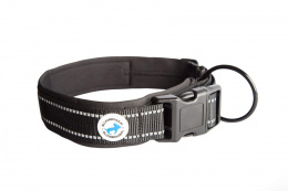 All For Dogs Black Obroża dla psa 25-35 cm S