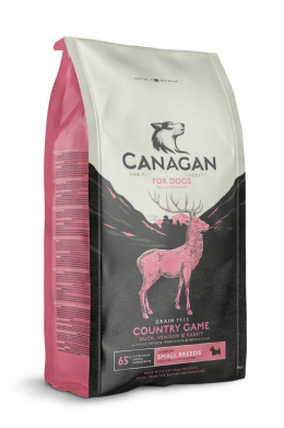 Canagan Country Game Small Breed Dog 2kg + GRATIS Balto Kurze łapki 5szt.