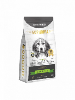 BIOFEED EUPHORIA Adult Dog Small & Medium Jagnięcina 12kg